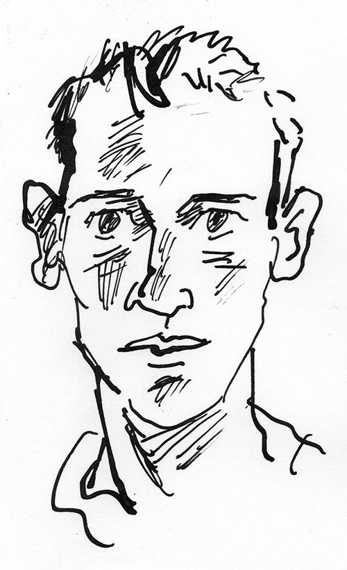 Portrait de Jean Harambat, dessinateur