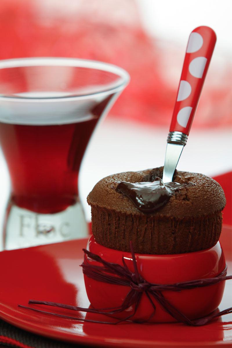 Moelleux au chocolat et Floc-de-Gascogne