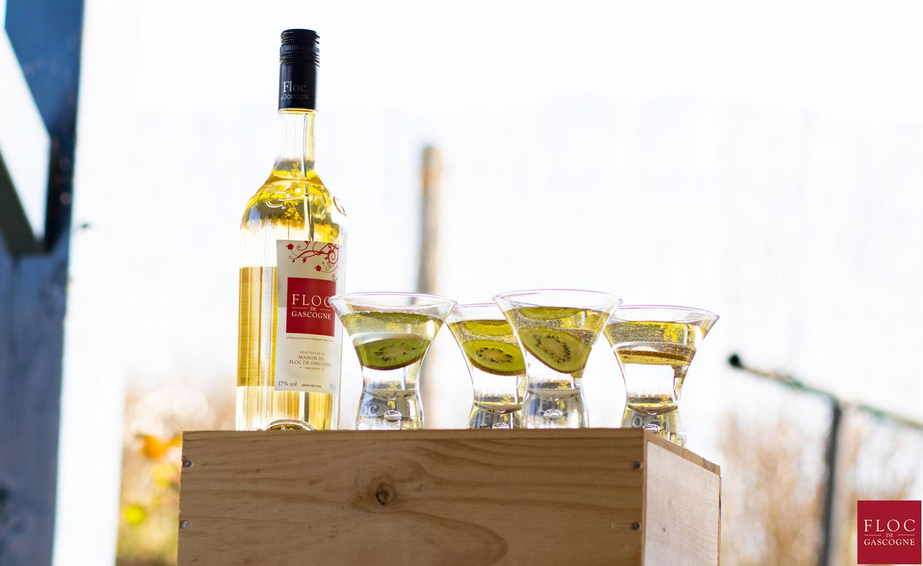 Cocktail Floc-de-Gascogne et Kiwi de l'Adour