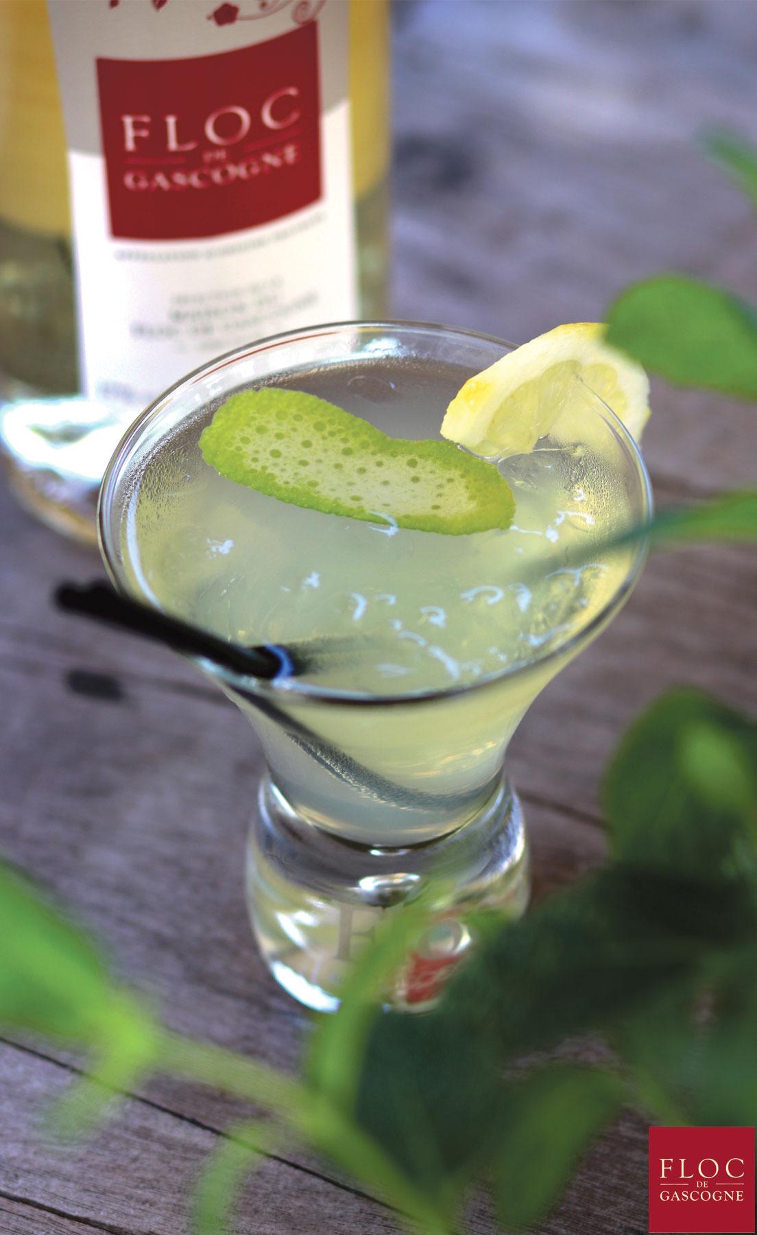 Cocktail Bubble-Floc au Floc-de-Gascogne et Schweppes
