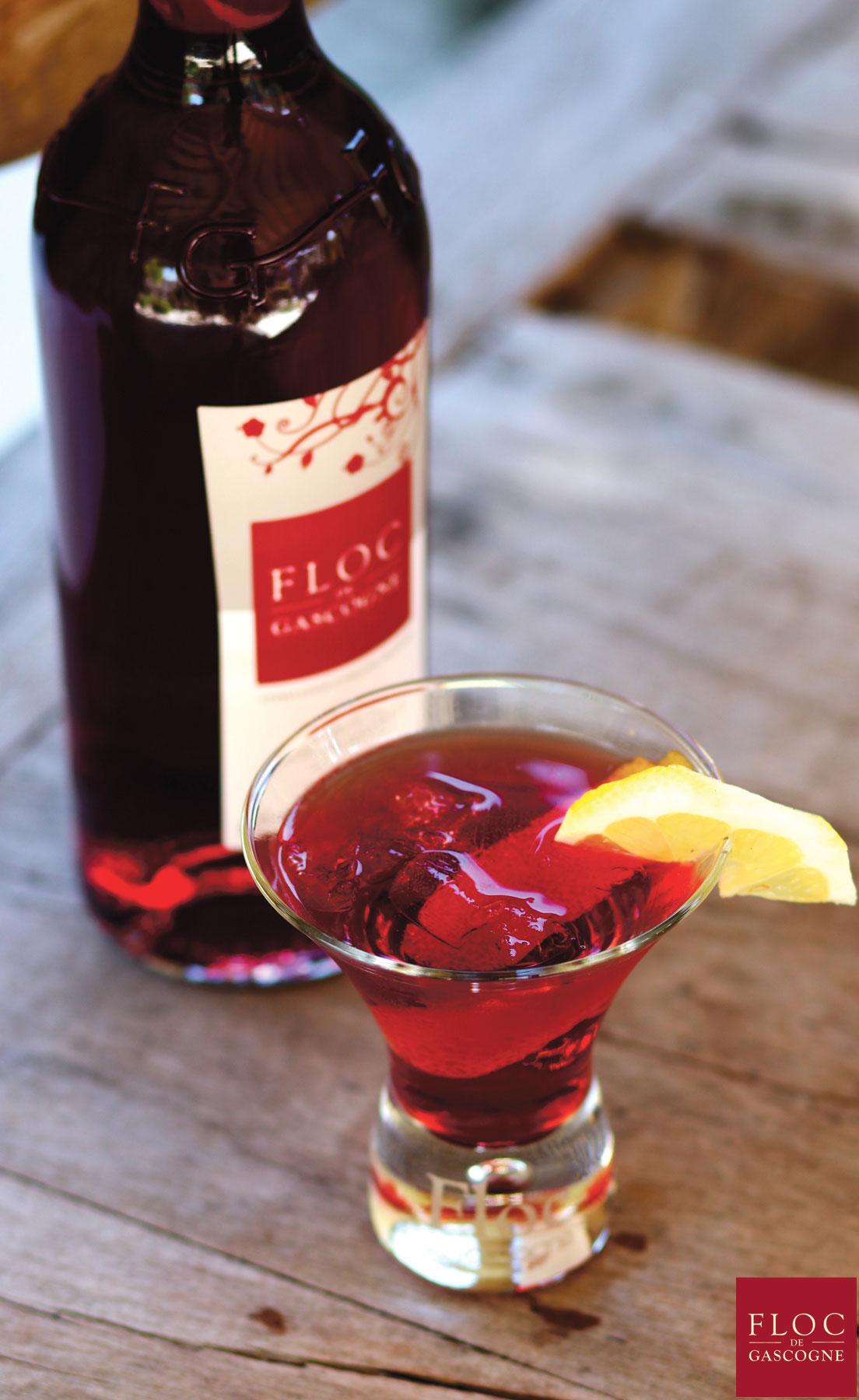 Cocktail Floc-Tonic Floc-de-Gascogne et Schweppes Tonic