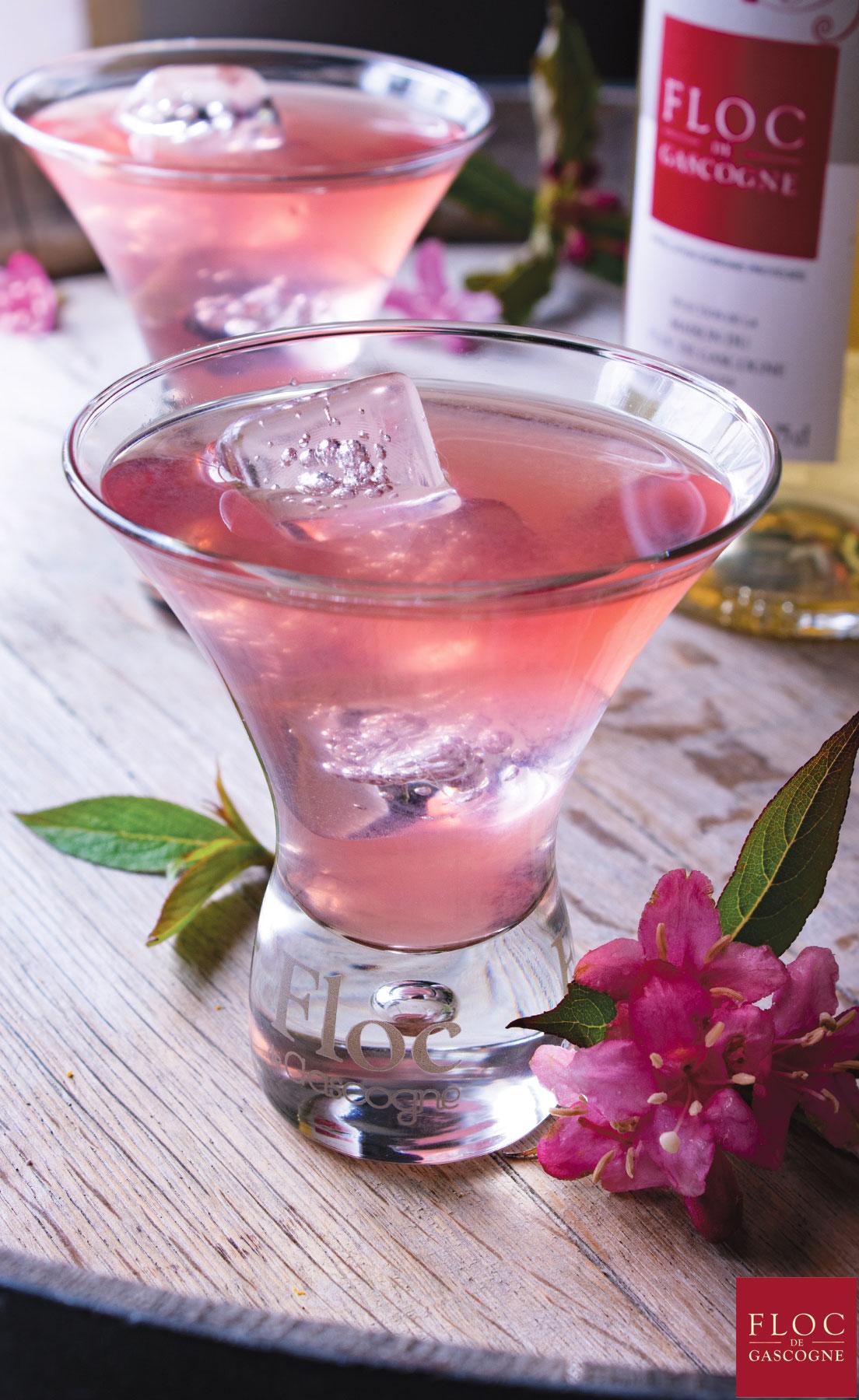 Recette cocktail Floc-de-Gascogne Pink-Flower