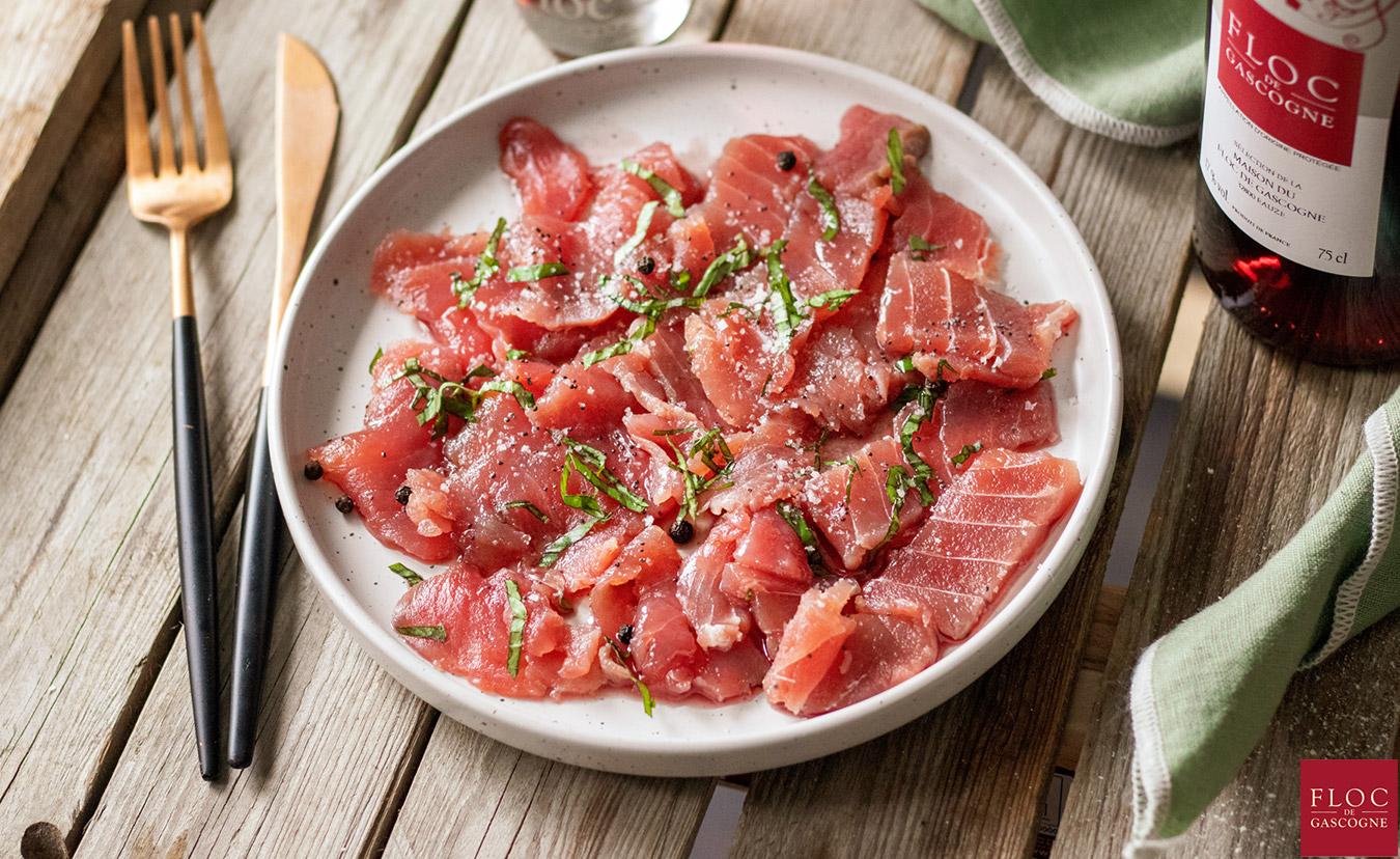 Carpaccio de thon rouge