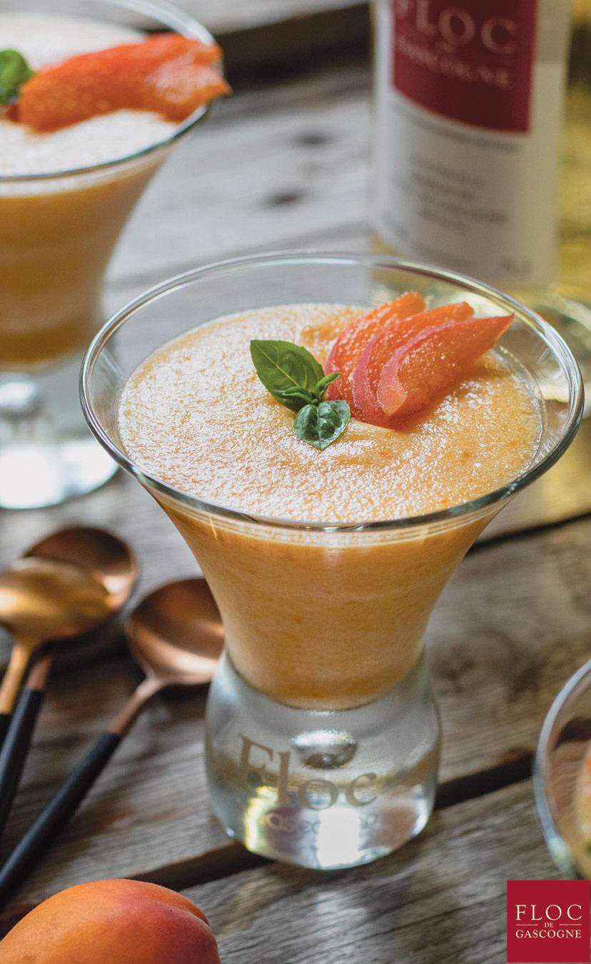 Mousse d'abricots au Floc-de-Gascogne