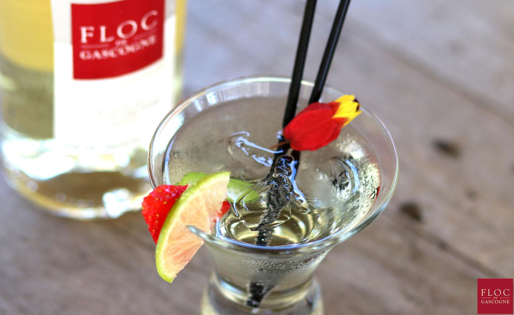 Cocktail Floc-Fizz au Floc-de-Gascogne
