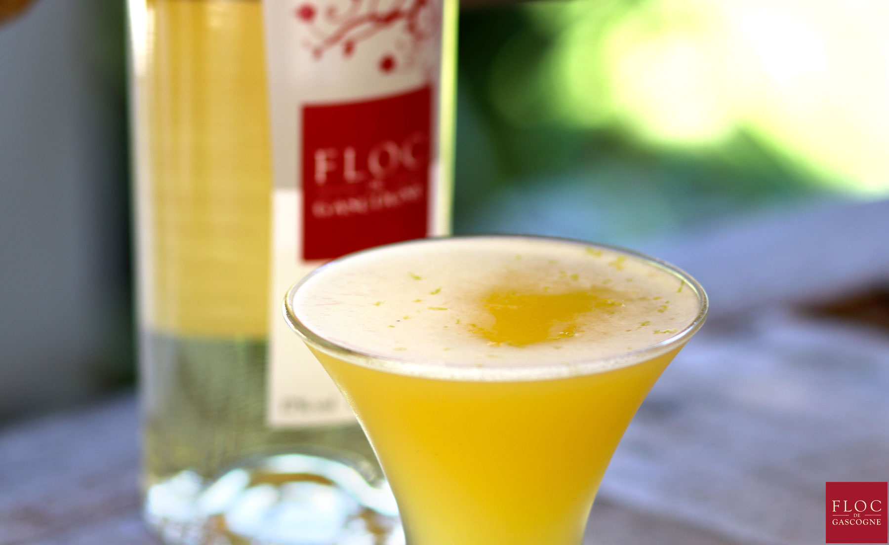 Cocktail Sun-Flower au Floc-de-Gascogne