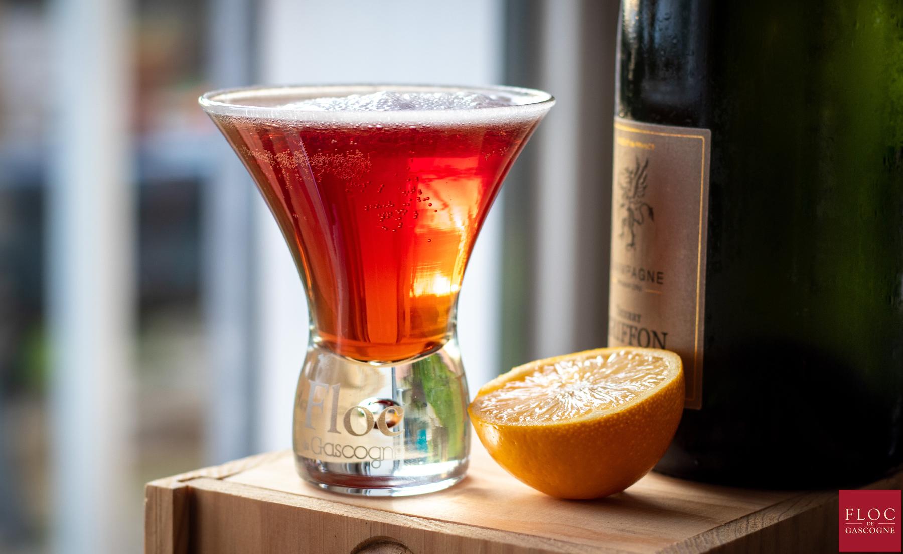 Cocktail Floc-Fizz : champagne et Floc-de-Gascogne